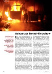 Schweizer Tunnel-Knowhow - ifa International Fire Academy