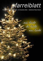 Nr. 17 vom 30. November bis 20. Dezember 2013 - pfarrei-ruswil.ch