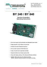 BY 240 / BY 840 - Elektro-Trading sp. z oo
