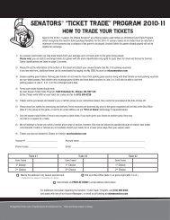 "SENATORS® ""TICKET TRADE"" PROGRAM 2010 ... - Ottawa Senators"