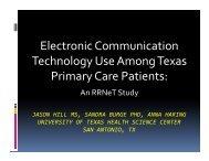 Electronic Communication Technology Use Among Texas ... - IIMS