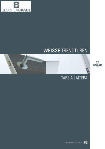 Moralt - Weisse Trendtüren Tarsia + Altera - Beschlag Paul GmbH