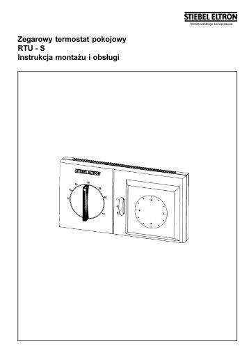Zegarowy termostat pokojowy RTU - S Instrukcja ... - Interex Katowice