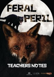 feral peril teachers notes