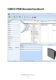 CIMCO PDM Benutzerhandbuch