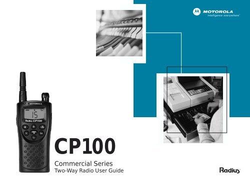 Motorola CP100 Two-Way Radio Operations Manual pdf