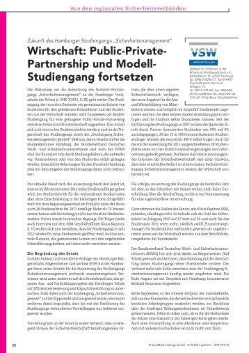 Verbandsteil VSWN aus WIK 4 / 2011 (pdf) - Verband für Sicherheit ...