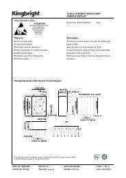 14.2mm (0.56INCH) SINGLE DIGIT NUMERIC DISPLAY ...