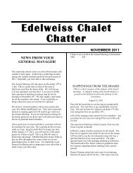 2 Edelweiss Chalet Chatter - Edelweiss Chalet Country Club
