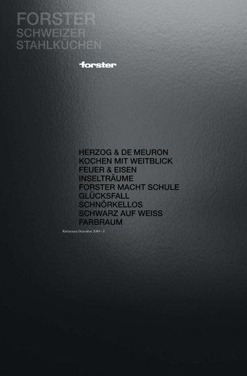 Broschüre downloaden - Forster Küchen
