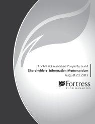 Information Memorandum - Fortress Mutual Fund Ltd