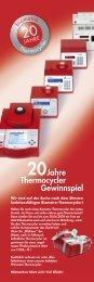Gewinnspiel Jahre Thermocycler - Biometra