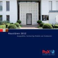 PAX-Haustürenaktion - Ep-Con Bauelemente
