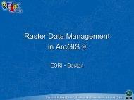 Raster datasets - Northeast Arc Users Group