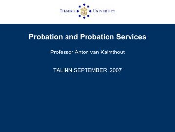 Probation and Probation Services - CEP, the European Organisation ...