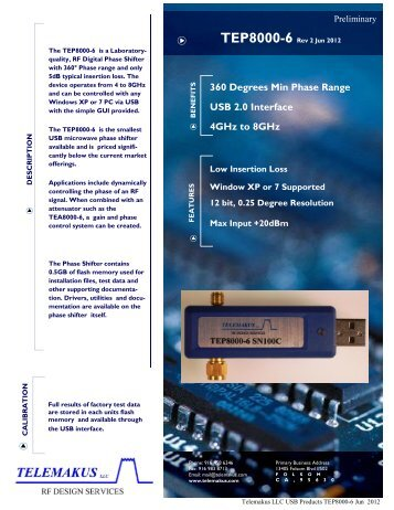 TEP8000-6 DataSheet - RfMW