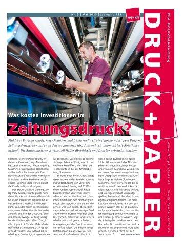 Zeitungsdruck? - Verlage, Druck und Papier - Ver.di