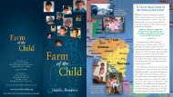 Farm Of the Child Overview Brochure