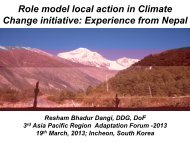 Role model local action in Climate Change initiative: Experience ...