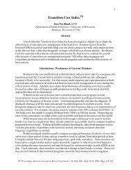 TM Transition Cow Index - University of Wisconsin–Madison