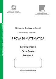 Prova di Matematica classe V primaria - Fascicolo 1 - Invalsi