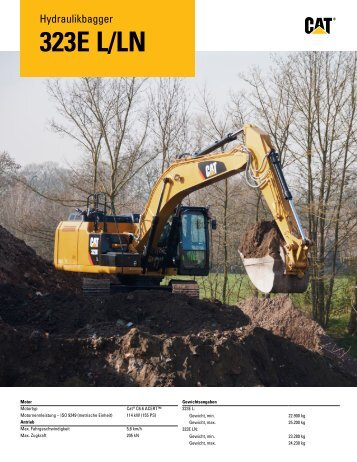 Hydraulikbagger 323E L/LN - Caterpillar