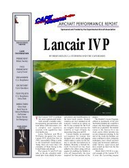 Lancair IV-P - CAFE Foundation