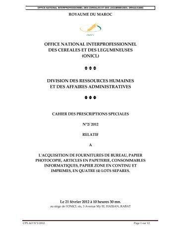 CPS - Office National interprofessionnel des céréales et des ...