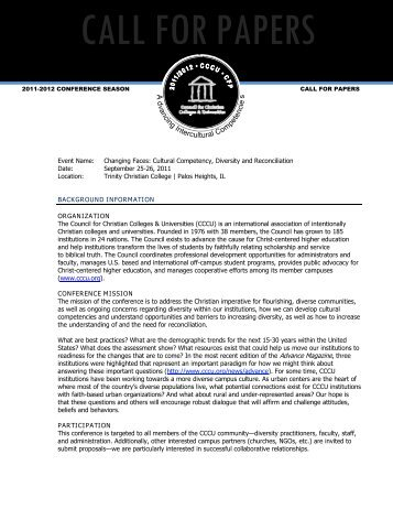 RFP Template - Council for Christian Colleges & Universities