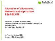 ETS allocation - Partnership for Market Readiness
