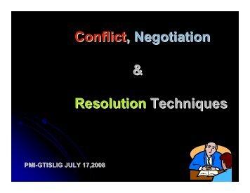 Conflict GTISLIG July 17 2008