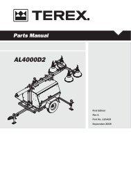 Terex Amida AL4 AL4000 D2 Operational Manual - Light Towers USA