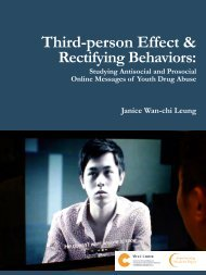 Third-person Effect & - The Chinese University of Hong Kong