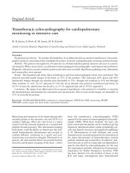 Original Article Transthoracic echocardiography for ... - Secma