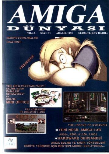 Amiga Dunyasi - Sayi 31 (Aralik 1992).pdf - Retro Dergi