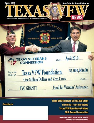 Texas VFW Receives $1,000,000 Grant Instilling True Comradship ...