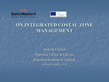 Integrated Coastal Zone Management. - Baltic Master II