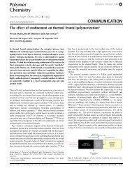 Polymer Chemistry COMMUNICATION - Chemical & Biomolecular ...