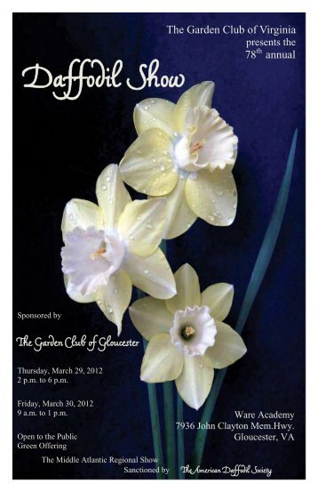 Daffodil Show - Garden Club of Virginia