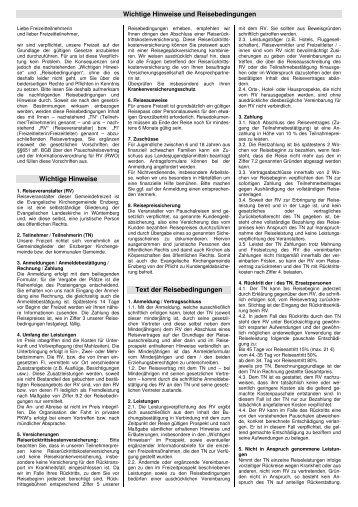 Reisebedingungen Gemeindefreizeit 2010 - Evangelische ...