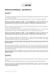 RESPOSTAS ESPERADAS – MATEMÁTICA - Unicamp