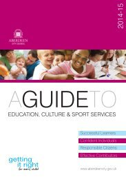 A Guide to Education, Culture and Sport Services 2013/14