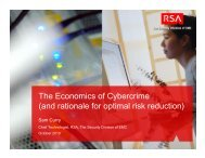 The Economics of Cybercrime (and rationale for optimal ... - Felaban