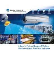Parts cleaning - Spraying Systems Co.