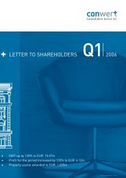 Letter to the Shareholders Q1 2006 - conwert Immobilien Invest SE