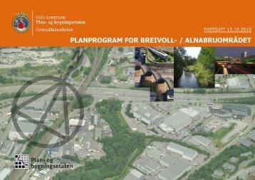 a. fastsatt planprogram for breivoll-/ alnabruområdet