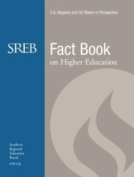 2013 SREB Fact Book on Higher Education - Southern Regional ...