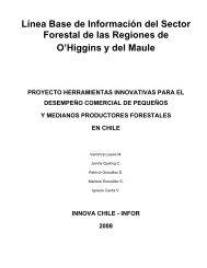 Línea Base de Información del Sector Forestal de las ... - Inicio