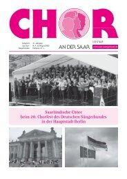 Aus dem Chor- und Vereinsleben - Saarländischer Chorverband