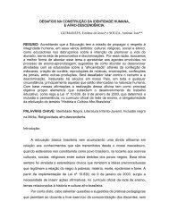 DESAFIOS NA CONSTRUÇÃO DA IDENTIDADE HUMANA, E ...